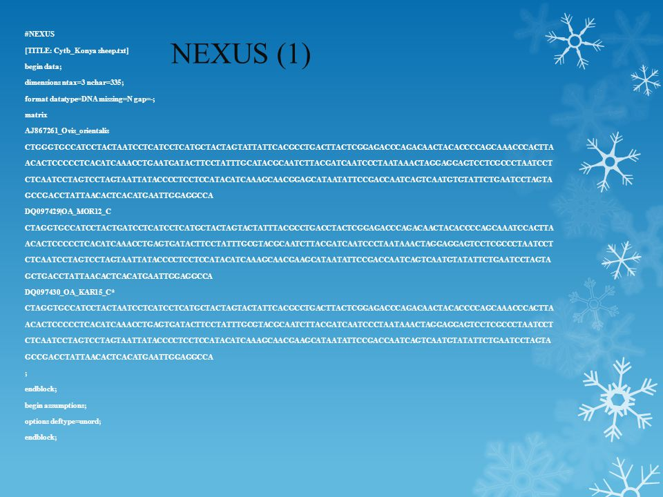 NEXUS (1) #NEXUS [TITLE: Cytb_Konya sheep.txt] begin data;